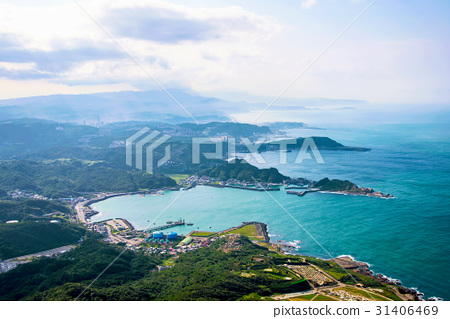 View of Hills and nature in Taiwan countryside 31406469