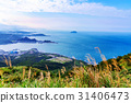 Hillside view of Keelung countryside and sea 31406473