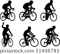 bicycle, silhouette, vector 31406783