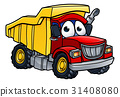 Dump Truck Cartoon Character 31408080
