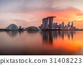 Singapore skyline at sunset time  31408223