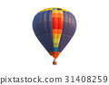 Pilot hot air balloon isolated on white background 31408259