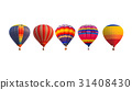 Group hot air balloons  31408430