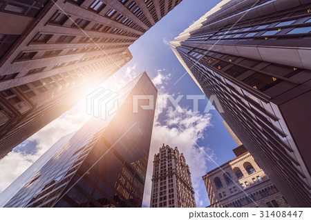 office towers in the sun 31408447