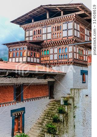 Inner view of Trongsa Dzong, Bhutan 31408619