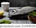 raw fresh mackerel 31409504