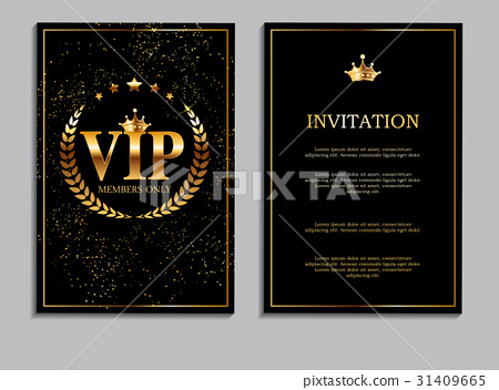 Abstract Luxury VIP Members Only Invitation 31409665