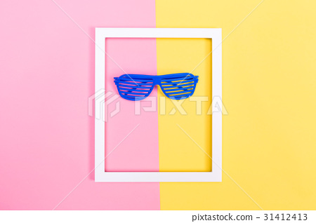 Shutter shades sunglasses on a vibrant background 31412413