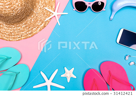 Summer and beach objects theme  31412421