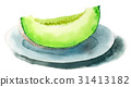 葫蘆科 水果 水彩畫 31413182