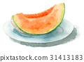 葫蘆科 水果 水彩畫 31413183