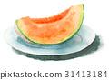 葫蘆科 水果 水彩畫 31413184