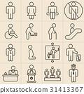 Exhibition Line Icons 31413367