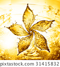 flower made of water splash of yellow color 31415832