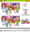 spot the differences game with kids 31416080