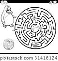 maze, labyrinth, penguin 31416124
