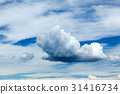 blue sky background with tiny clouds 31416734