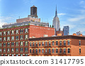 Rooftop water tank on a New York building 31417795