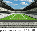 Modern American football Stadium with white seats  31418303