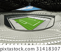 Modern American football Stadium with white seats  31418307