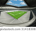 Modern American football Stadium with white seats  31418308