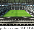Large soccer football Stadium with black seats 31418456