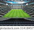 Large soccer football Stadium with black seats 31418457