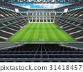 Large soccer football Stadium with black seats 31418457