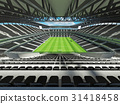 Large soccer football Stadium with black seats 31418458