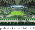 Large soccer football Stadium with green seats 31418510