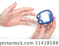 Close-up Of Woman Hands Testing High Blood Sugar 31418588