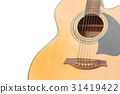 Acoustic guitar body music instrument on white  31419422
