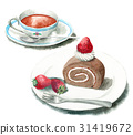 roll cake, swiss roll, cake 31419672