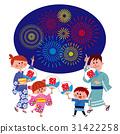 여름 축제 유카타 가족 31422258
