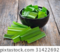 Pandan in a cup on wood 31422692