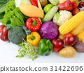 vegetables and fruits on white background 31422696