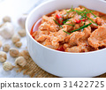 Panang curry with pork .thai food 31422725