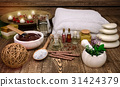 Spa, still, life,with, candles, and, spa, products 31424379
