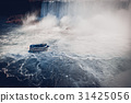 boat with tourists in Niagara Falls 31425056