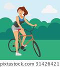 จักรยาน,เวกเตอร์,หญิง 31426421