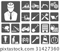 engineer and construction icon buttons set 31427360