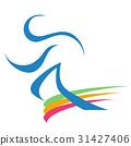 the runner logo 31427406