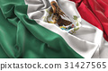 Mexico Flag Ruffled Beautifully Waving 31427565