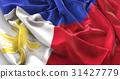 Philippines Flag Ruffled Beautifully Waving 31427779