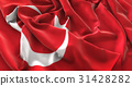 Turkey Flag Ruffled Beautifully Waving 31428282