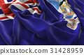 Falkland Islands Flag Ruffled Beautifully Waving 31428959