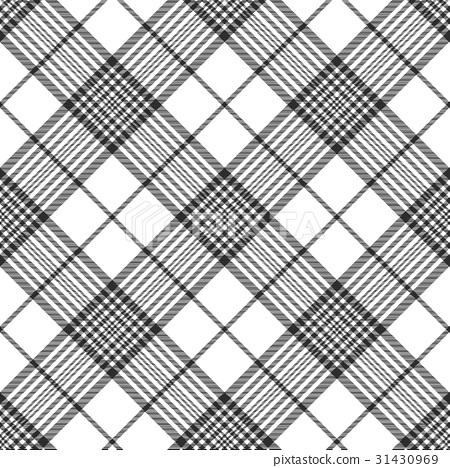 Monochrome fabric diagonal seamless texture - Stock Illustration ...