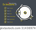 Eye infographic . Flat design . 31436974