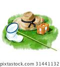 草帽 昆蟲採集 蝴蝶網 31441132