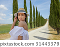 girl, holiday, tuscany 31443379